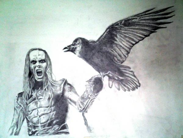 Adam Darski by DrawingBlood75